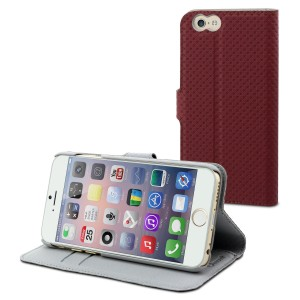 MUVIT APPLE IPHONE 6/6S WALLET CASE RED/LIGHT GREY