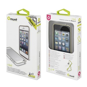 MUVIT APPLE IPHONE 5/5S BUMPER CASE BLACK