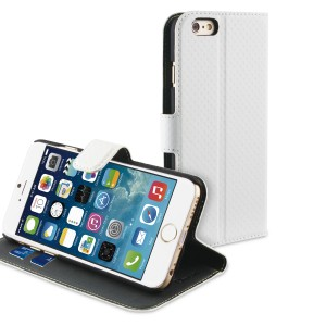 MUVIT APPLE IPHONE 6/6S WALLET CASE WHITE/DARK GREY