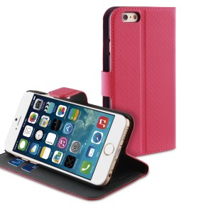 MUVIT APPLE IPHONE 6/6S WALLET CASE PINK/DARK GREY