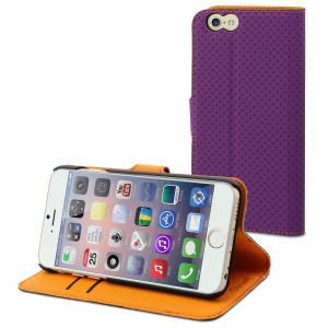 MUVIT APPLE IPHONE 6/6S WALLET CASE PURPLE/ORANGE