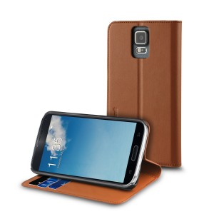 MUVIT SAMUNG GALAXY S5 NEO WALLET STAND CASE BROWN