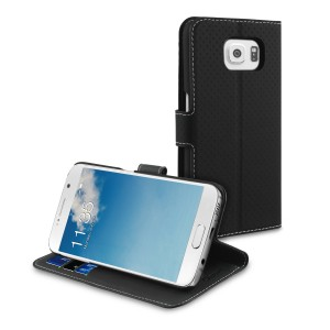 MUVIT SAMSUNG GALAXY S6 WALLET STAND CASE BLACK